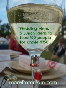 Wedding Menu 5 Lunch Ideas to feed 100 people for under $250