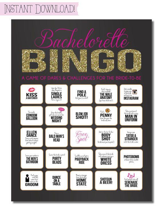 bachelorette bingo game