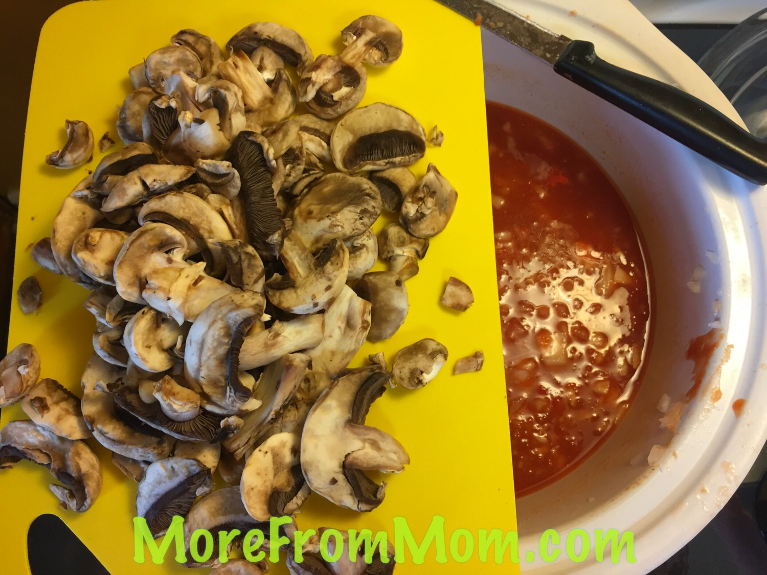 Add sliced mushrooms