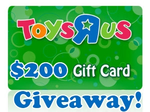 $200 Toys R Us or Cash Paypal Giveaway