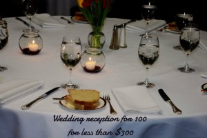 How to do a Cocktail/Appetizer reception for 100 people under $300!