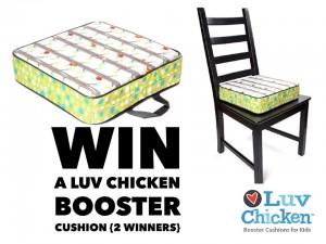 Luv Chicken Booster Seat Giveaway 2/13 US #luvchicken1@luvchicken1