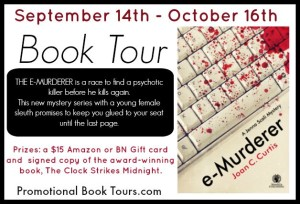 e-Murderer book tour and giveaway
