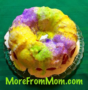 Mardi Gras Cheat King Cake